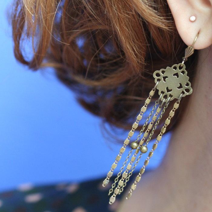 Boucle d'oreille clip qui ne font pas mal